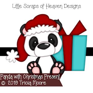 Panda with Christmas Present