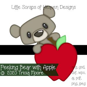 Peeking Bear with Apple