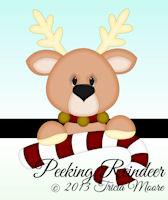Peeking Reindeer
