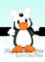 Penguin in Bear Hat