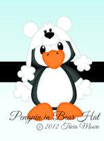 Penguin in Bear Hat