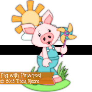 Pig with Pinwheel