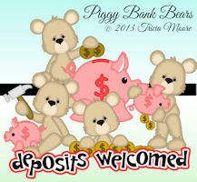 Piggy Bank Bears