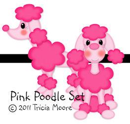 Pink Poodle Pattern Set