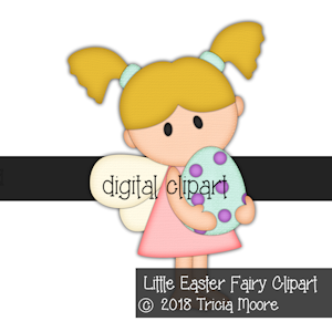 DIGITAL PIECING Little Easter Fairy