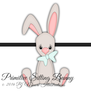 Primitive Sitting Bunny