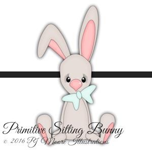Primitive Sitting Bunny
