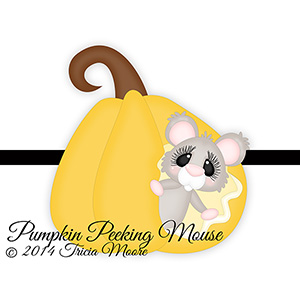 Pumpkin Peeking Mouse