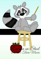 Raccoon on Stool