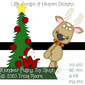 Reindeer Pulling Toy Sleigh
