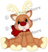 Reindeer Paper Piecing Pattern