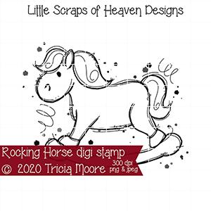 Rocking Horse Digi Stamp