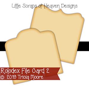 Rolodex File Card 2
