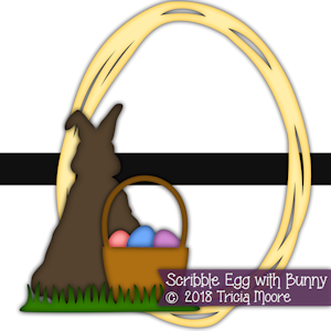 Scribble Egg with Bunny