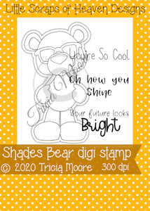 Shades Bear Digi Stamp