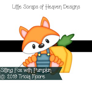 Sitting Fox with Pumpkin