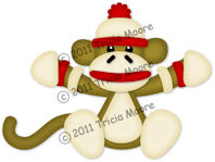 Sitting Sock Monkey