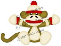 Sitting Sock Monkey