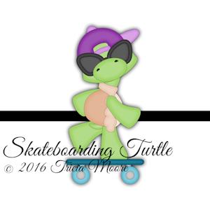 Skateboarding Turtle