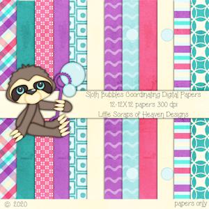 Sloth Bubbles Paper