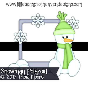 Snowman Polaroid