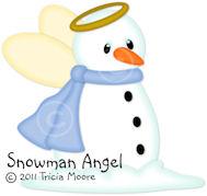 Snowman Angel
