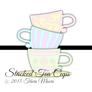 Stacked Tea Cups