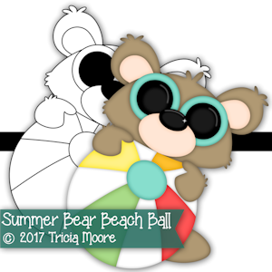 Summer Bear Beach Ball