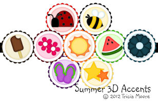 Summer 3D Accents