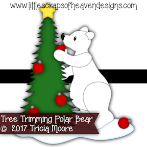 Tree Trimming Polar Bear