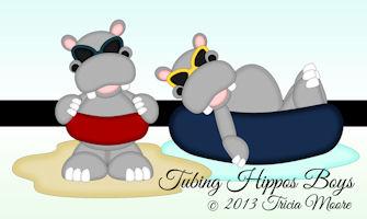 Tubing Hippos Boys