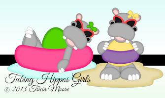 Tubing Hippos Girls