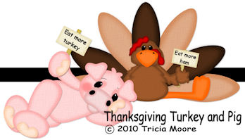 Thanksgiving Turkey and Pig Pattern Collection