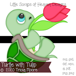 Turtle with Tulip