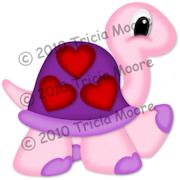 Valentine Turtle Pattern